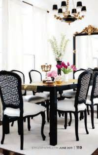 Black And White Dining Rooms by Dining Room Design Black And White With Gold Accents