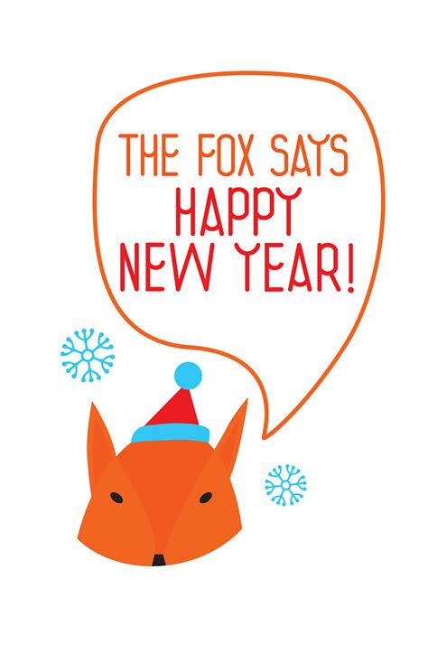 Snowflake Wall Stickers quot the fox says happy new year quot by mila murphy redbubble
