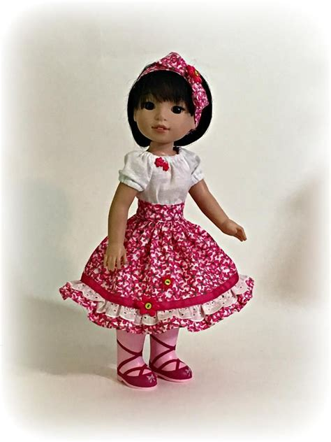 pattern kat dress party dress sewing pattern for wellie wishers dolls by oh