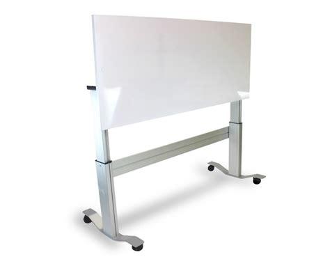 Whiteboard Desk markit up the adjustable standing desk with flip up whiteboard