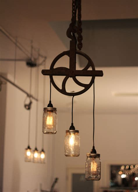 Rustic Industrial Lighting by 32 Totally Cool Steunk Light Fixtures