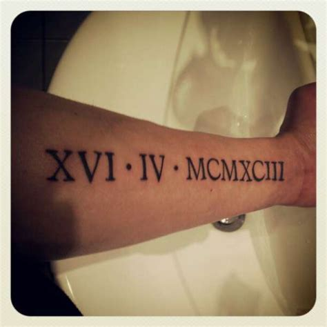 22 forearm roman numerals tattoos