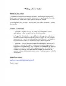 purpose of a cover letter for a resume purpose of resume cover letter sles of resumes