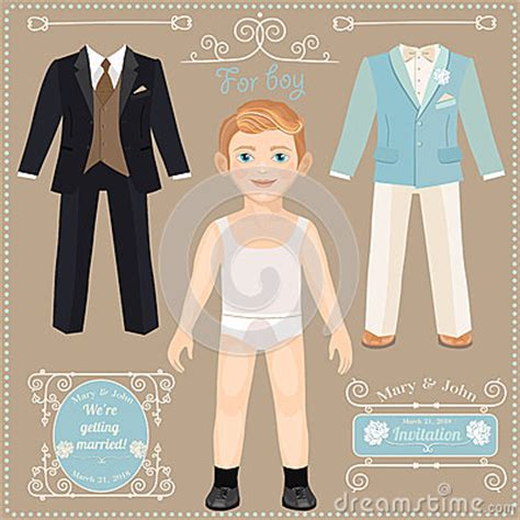 Paper Dolls With White Wedding Dresses by Paper Doll With A Set Of Clothes Wedding Dresses For The
