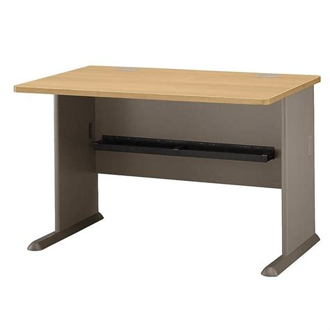bush business furniture series a 48w desk in light oak