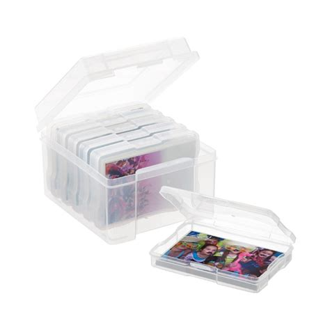 photo storage box 6 4 quot x 6 quot photo storage box the container store