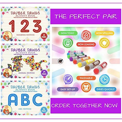a dot markers paint daubers activity book bugs learn as you play do a dot page a day animals books abc edition dot marker activity sheets 26 pages made