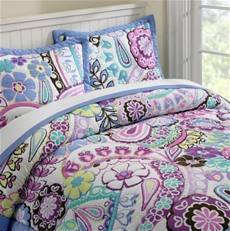 purple kids bedding paisley pop quilt sham eclectic kids bedding by pbteen