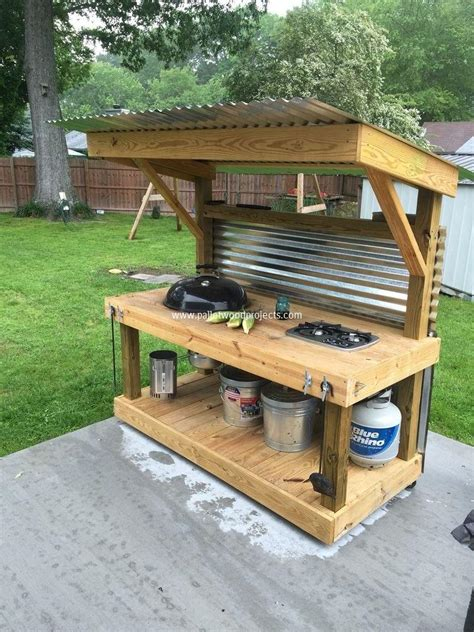 easy outdoor kitchen ideas interesting useful diy project ideas on how to use old