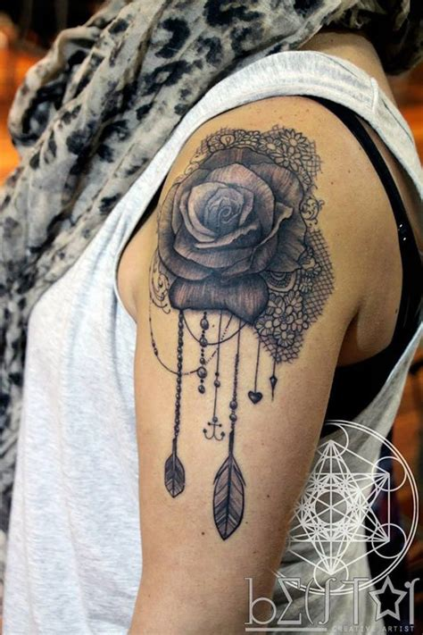 tattoo feather lace 19 awesome lace tattoo designs images and pictures