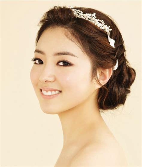 korean bridal hairstyles up hair style semi smoky eye make up korean concept