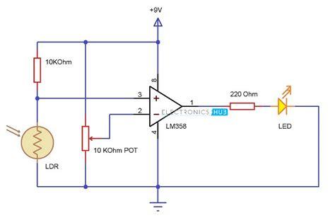 light dependent resistor circuit diagram light detector using ldr