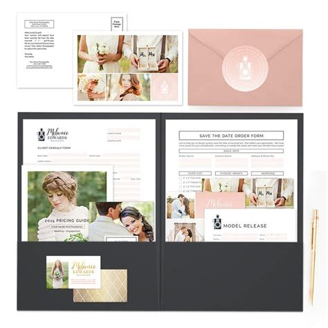wedding welcome packet template 56 best marketing sets for photographers images on