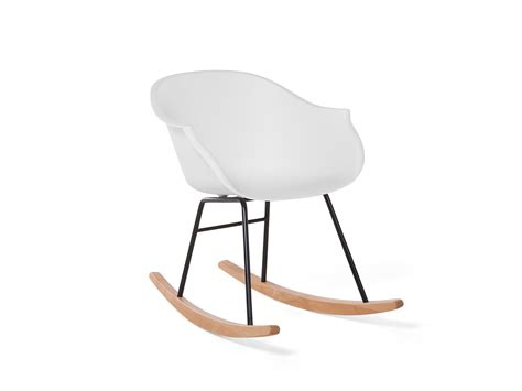 chaise a bascule blanche chaise 224 bascule rocking chair en plastique blanche