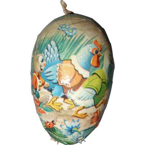 Easter Paper Mache Shop Collectibles - german papier mache easter egg from shirleydoll on ruby