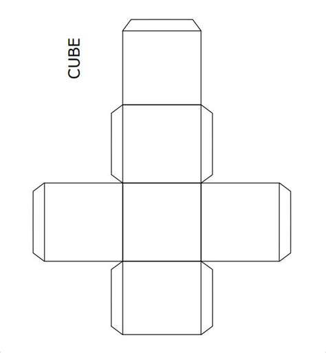 How To Make A Cuboid Out Of Paper - cube template 8 free pdf doc