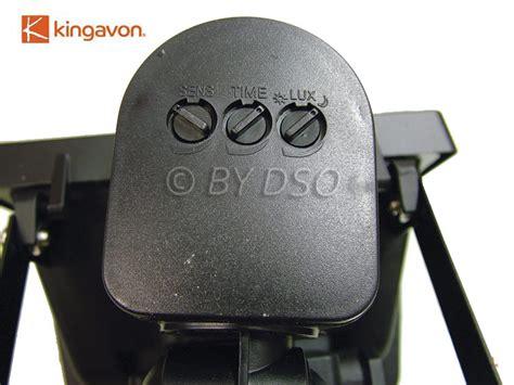 motion sensor light settings kingavon 45 led floodlight with pir motion sensors hl120