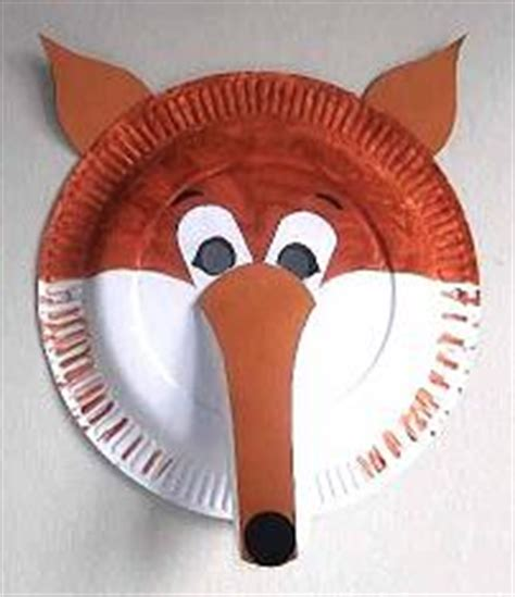 How To Make A Paper Fox Mask - craft animal paper plate masks