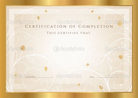 gold certificate template best photos of gold certificate templates gold award