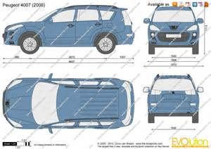 Peugeot 4007 Dimensions The Blueprints Vector Drawing Peugeot 4007