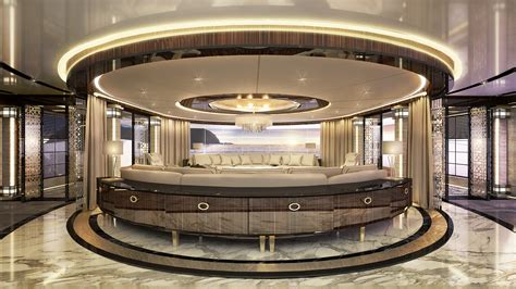 ultra modern mega yacht interior ultra luxurious interior spaces aboard the 80m era by