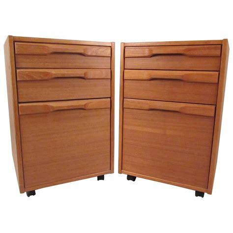 Teak File Cabinet by Pair Of Mid Century Teak Filing Cabinets By Denka
