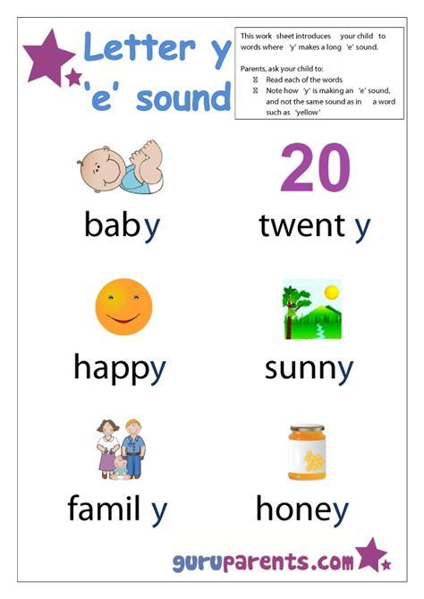 exle of y as a vowel letter y worksheets guruparents