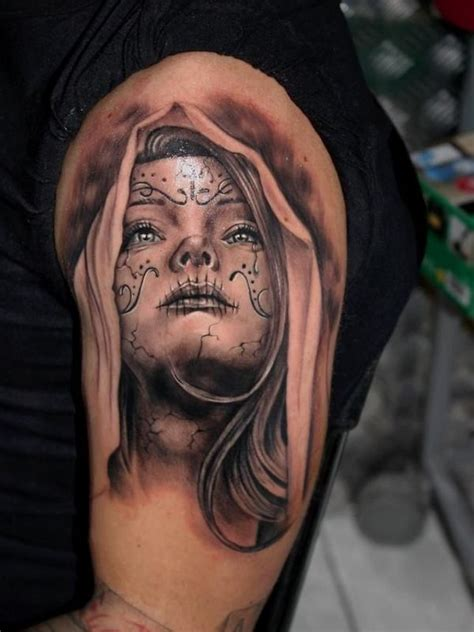 40 eye catching day of the dead tattoos faces skulls