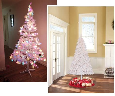 amazing 6 5ft white pre lit christmas tree only 39