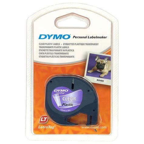 Label Letratag Dymo Plastic Clear Dymo Letratag dymo letratag plastic labels 12mm cos complete office supplies