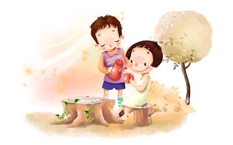 wallpaper cartoon boy cute cartoons 14247 1920x1200 px hdwallsource com