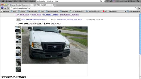 Craigslist Port Fl Cars by Craigslist Used Cars July 28th By Owner 4000 Ford Focus In Miami Florida