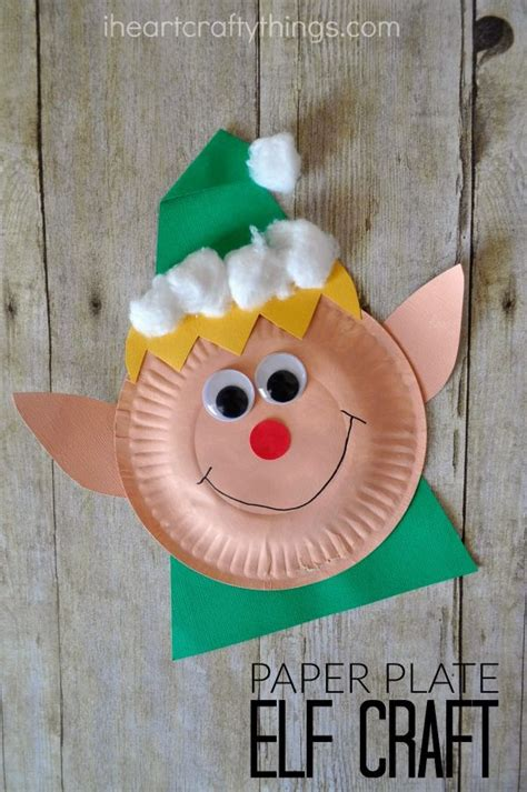 Paper Plate Craft Book - paper plate craft elves craft and books