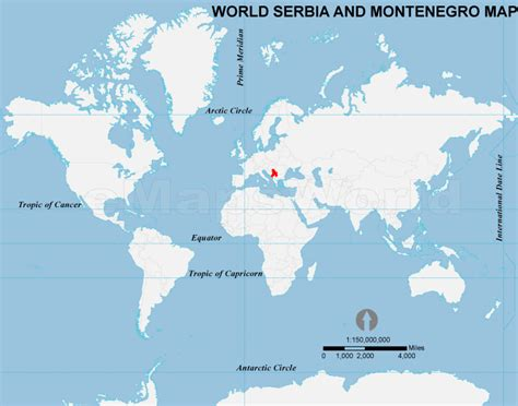 where is serbia on a world map serbia and montenegro location map location map of