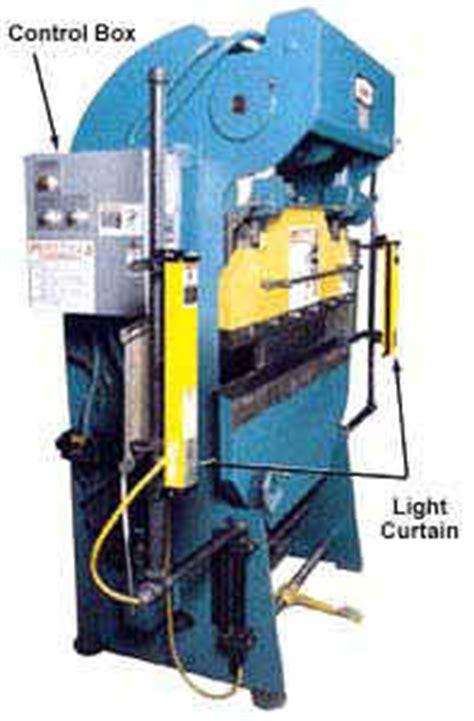 light curtains osha machine guarding etool presses hydra mechanical presses