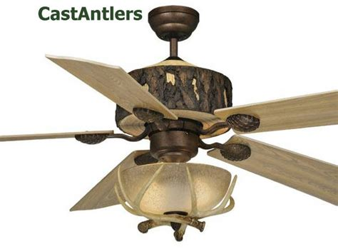 Antler Ceiling Fan With Light Standard Size Fans 52 Quot Woodlands Rustic Faux Antler Ceiling Fan Rustic Lighting And Decor