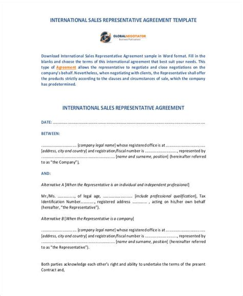international sales agreement template 31 free sales agreement forms