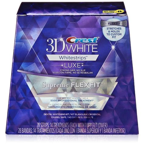 crest whitestrip supreme crest 3d luxe whitestrips supreme flexfit teeth whitening