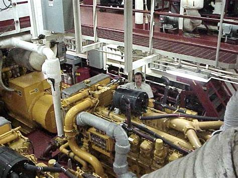cruise ship engine room noaa explorer hudson cruise 2002 brown engine room