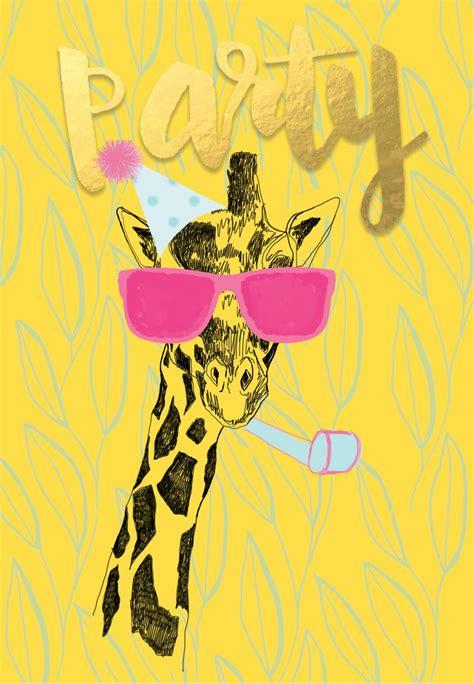 party animal birthday card   island