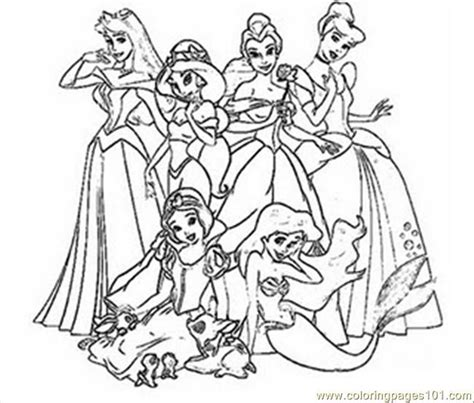 princess coloring pages  printable coloring page
