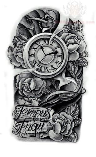 tempus fugit tattoo designs clock images designs