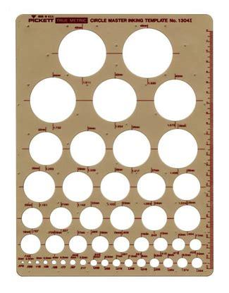 Chartpak Pickett Metric Circle Master Inking Template 1304i Pickett Drafting Templates