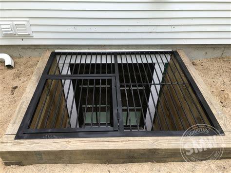 custom made window well covers custom window well guards with hatch in michigan city smw