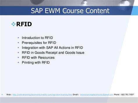 Sap Rfid Tutorial | sap ewm training sap ewm online training sap ewm course