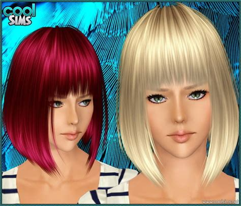 the sims 2 downloads fringe hairstyles asymmetrical bob with bangs hairstyle 98 by cool sims