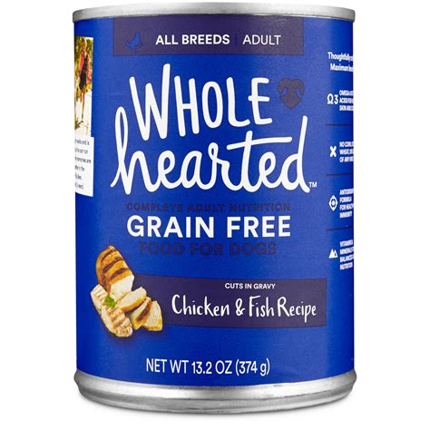 wholehearted food wholehearted food grain free chicken fish canned cuts in gravy petco