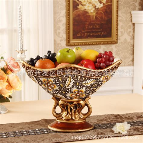 decorative fruit bowl retro ornaments living room decorative fruit bowl european