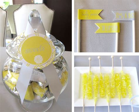 Baby Shower Decorations Yellow by Yellow Gray Modern Baby Shower Modern Baby Shower