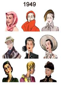 hairstyle facts from the 1940 s ladies hats 1949 1940 1959 hats hair styles